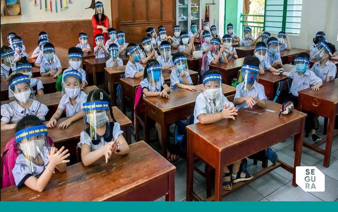 Máscara ou escudo facial, as crianças devem utilizar na escola?